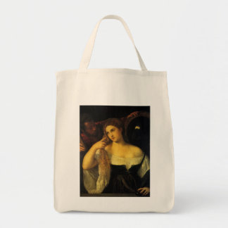 Woman with a Mirror by Titian Bag