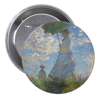 Woman with a Parasol by Claude Monet 7.5 Cm Round Badge