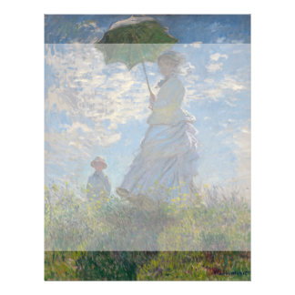 Woman with a Parasol by Claude Monet Flyers