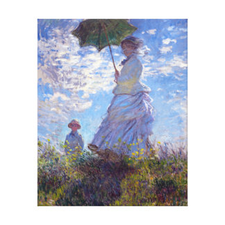 Woman with a Parasol Claude Monet Fine Art Canvas Print