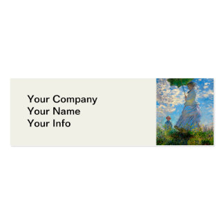 Woman with a Parasol Claude Monet Impressionist Business Card Templates
