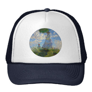 Woman with a Parasol Claude Monet Impressionist Trucker Hats