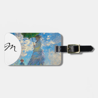 Woman with a Parasol Claude Monet Impressionist Luggage Tags