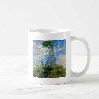 Woman with a Parasol Claude Monet Impressionist Coffee Mug
