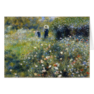 Woman with a Parasol in a Garden Renoir Greeting Card
