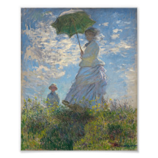 Woman with a Parasol - Madame Monet and Her Son Photographic Print