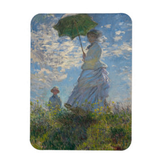 Woman with a Parasol - Madame Monet and Her Son Rectangular Photo Magnet