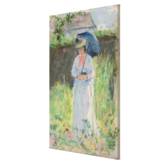 Woman with a Parasol (pastel on paper) Canvas Print