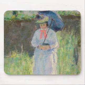 Woman with a Parasol (pastel on paper) Mouse Mat