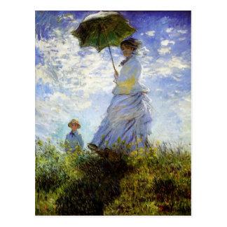 Woman with a Parasol Postcard