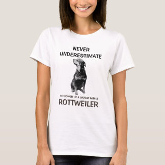 Woman with a Rottweiler T-Shirt