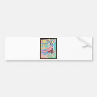 woman with a sword bumper sticker