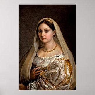 Woman with a veil La Donna Velata Raphael Santi Posters