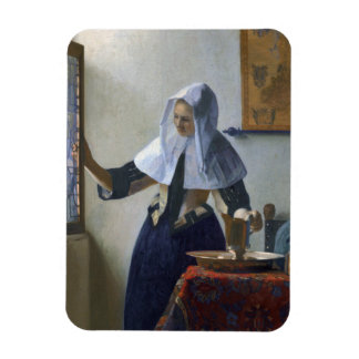 Woman with a Water Jug by Johannes Vermeer Rectangular Magnets