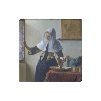 Woman with a Water Jug by Johannes Vermeer Stone Magnet