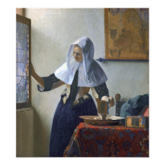 Woman with a Water Jug by Johannes Vermeer Photograph