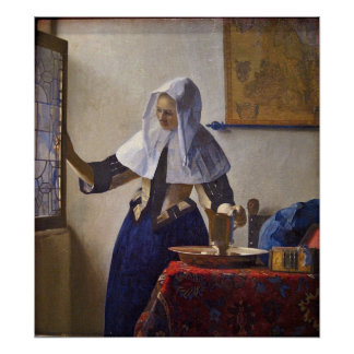 Woman with a Water Pitcher. by Johannes Vermeer Print