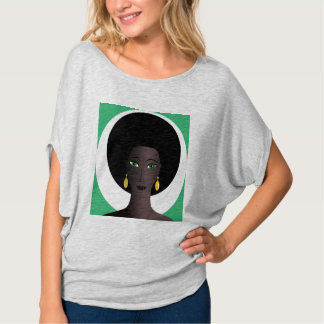 WOMAN WITH AFRO Bella Flowy Circle Top Tees