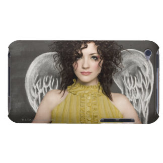 woman with angel wings 2 barely there iPod case