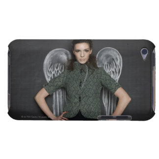 woman with angel wings iPod Case-Mate cases