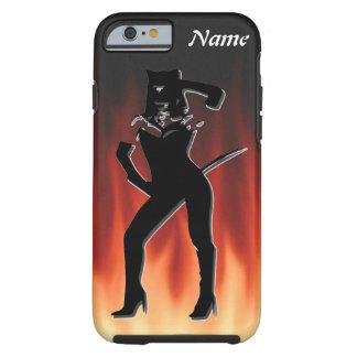Woman with black cat suit iPhone 6 case