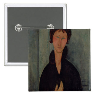 Woman with Blue Eyes, c.1918 15 Cm Square Badge