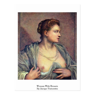 Woman With Breasts By Jacopo Tintoretto Postcards