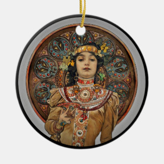 Woman with Champagne Glass Christmas Ornament