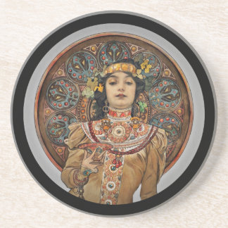 Woman with Champagne Glass Coaster
