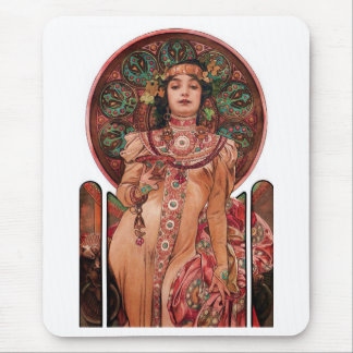 Woman with Champagne Glass Mouse Mat