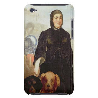 Woman With Dogs, 1858 (oil on canvas) iPod Case-Mate Cases