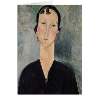 Woman with Earrings Card