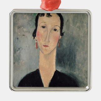 Woman with Earrings Christmas Ornament