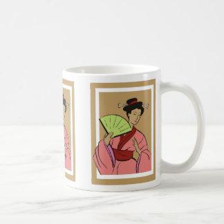 Woman with Fan, Woman with Fan Mug