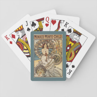 Woman with Feathers - PLM Railway Travel Poster Poker Deck