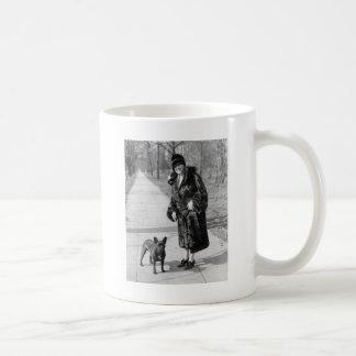 Woman with French Bulldog, 1920s Basic White Mug