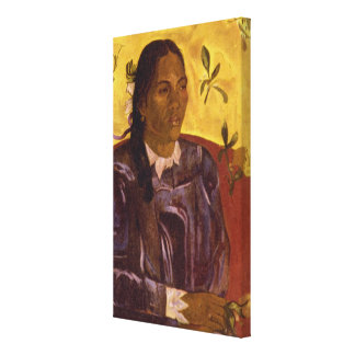 Woman with Gardenia by Paul Gauguin Stretched Canvas Print