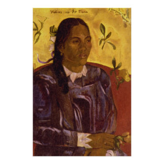 Woman with Gardenia by Paul Gauguin Poster