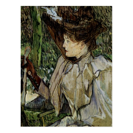 Woman with Gloves by Toulouse-Lautrec Postcard