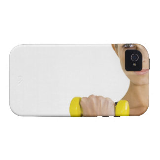 Woman with hand weight vibe iPhone 4 case