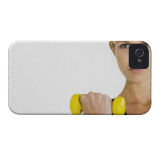 Woman with hand weight iPhone 4 Case-Mate cases
