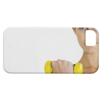 Woman with hand weight iPhone 5 case