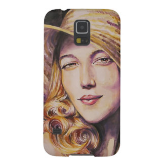 Woman with hat galaxy s5 cases