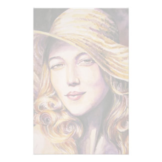 Woman with hat stationery