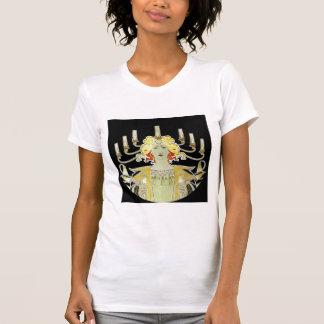 Woman with Lamp Light Tee Shirt