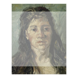 Woman with Loose Hair by Vincent Van Gogh 21.5 Cm X 28 Cm Flyer