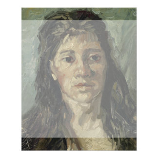 Woman with Loose Hair by Vincent Van Gogh 11.5 Cm X 14 Cm Flyer