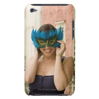 Woman with masquerade mask iPod Case-Mate cases