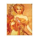 Woman with Orange Bouquet Canvas Prints