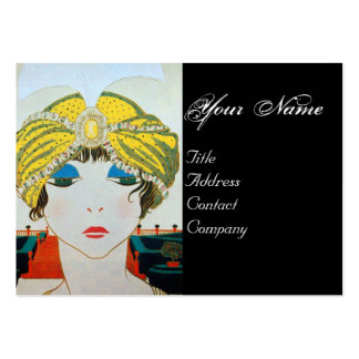 WOMAN WITH ORIENTAL YELLOW TURBAN / Beauty Fashion Business Card